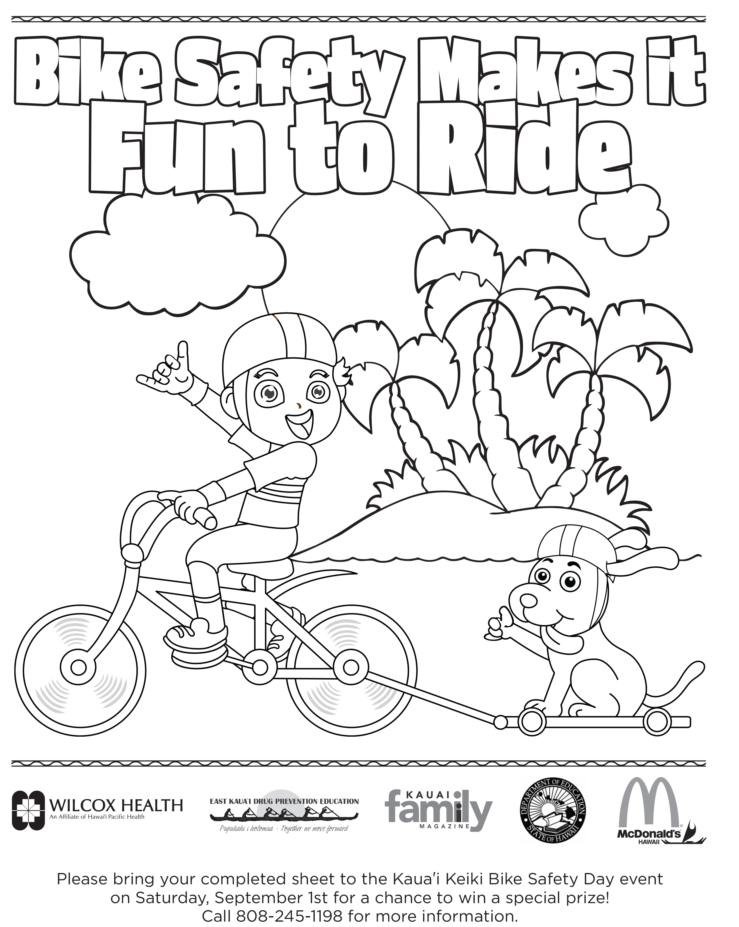 Free Coloring Pages Of Bicycle S Bike Safety Coloring Pages